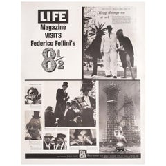 """""""8 1/2"""" 1963 U.S. 30 by 40 Film Poster"""