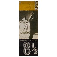 8 1/2 1965 Japanese Press Sheet Film Poster, Fellini