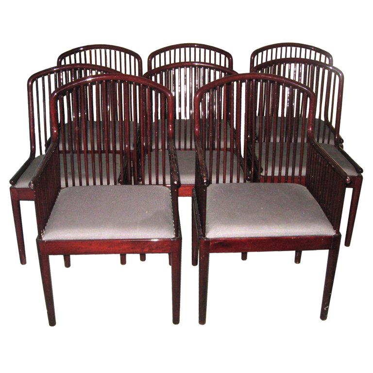 8 Andover Rosewood Dining Chairs by Stendig