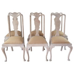 8 Antique Gustavian Style Urn Back Dining Chairs