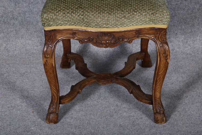 8 Baroque Chairs Liège 18th Century Oak For Sale 5