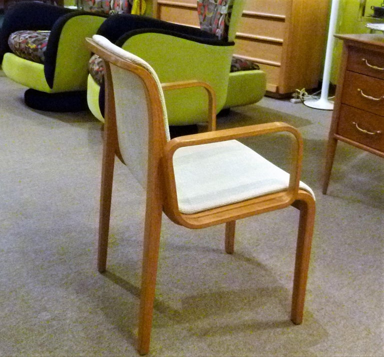 8 Bill Stephens Midcentury 1300 Series Armed Dining Chairs for Knoll For Sale 3