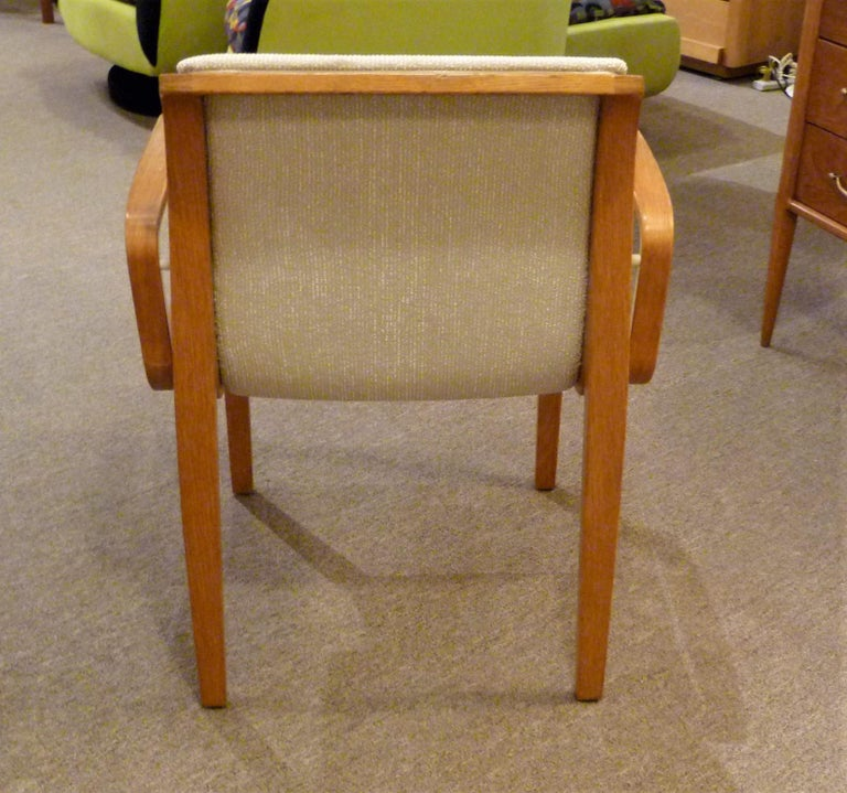 8 Bill Stephens Midcentury 1300 Series Armed Dining Chairs for Knoll For Sale 4
