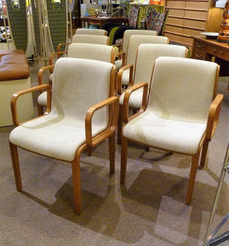 8 Bill Stephens Midcentury 1300 Series Armed Dining Chairs ...