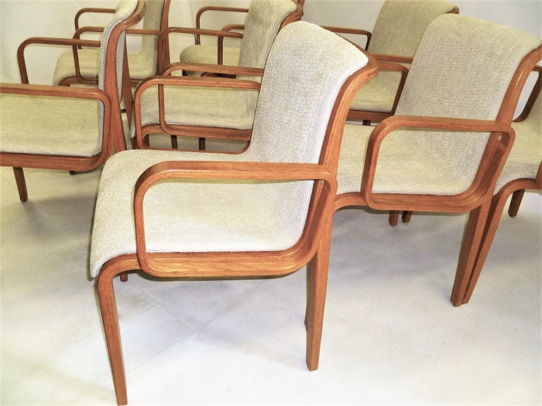 American 8 Bill Stephens Midcentury 1300 Series Armed Dining Chairs for Knoll For Sale