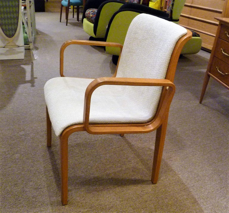 8 Bill Stephens Midcentury 1300 Series Armed Dining Chairs for Knoll For Sale 1