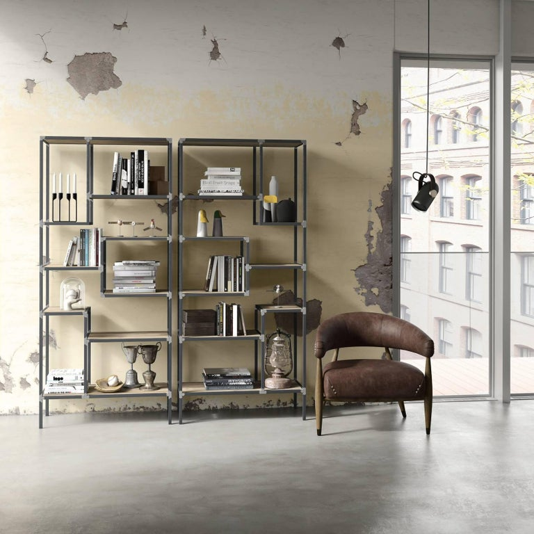 Contemporary Eight Bookcase For Sale