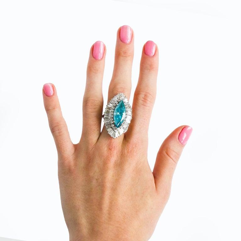 • Very important 8 Carat Blue Diamond • 8 Carats Diamonds D-VS • 14K Gold