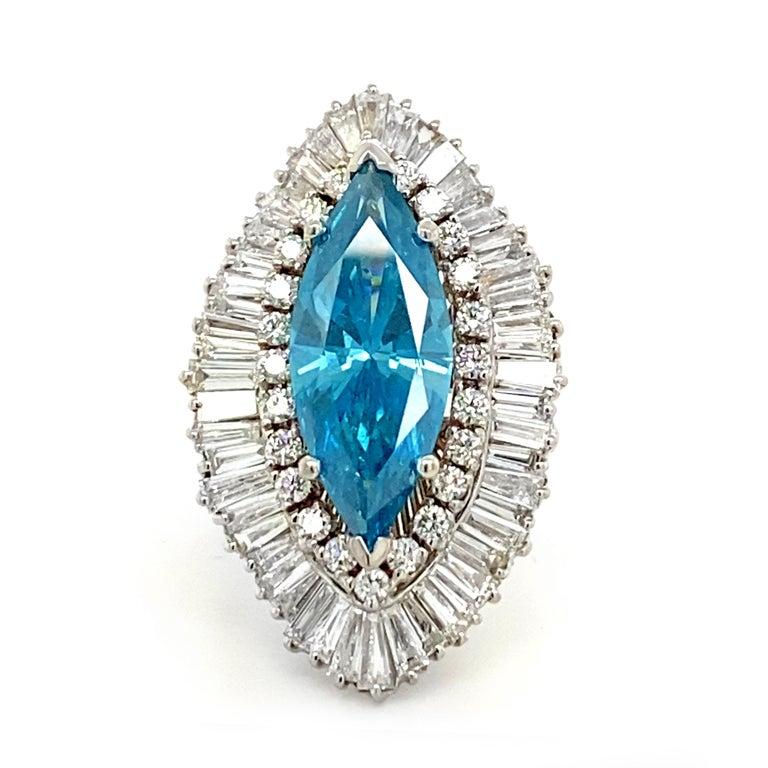 8 Carat Blue Diamond Ring 2
