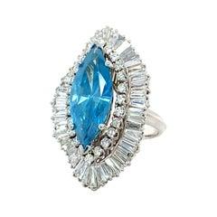 8 Carat Blue Diamond Ring