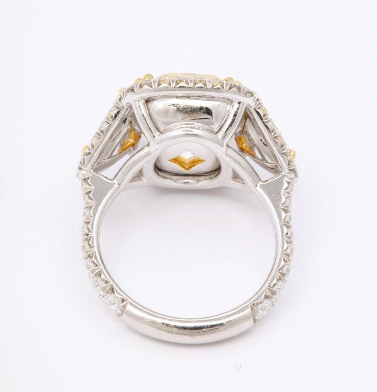 Women's 8 Carat GIA Certified Fancy Yellow Diamond Ring For Sale