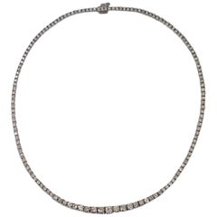 8 Carat Round Brilliant Diamond Tennis Necklace