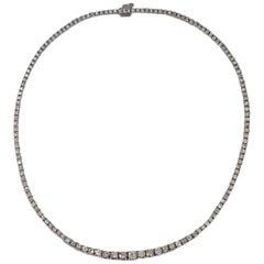 8 Carat Round Brilliant Diamond Tennis Necklace