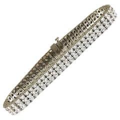 8 Carat Three-Row Diamond Bracelet