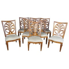 8 Century Furniture Mitsford Carved Side Dining Chairs