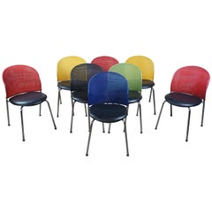 8 Christoph Hindermann Postmodern Orta Stacking Dining Office Chairs Dietiker