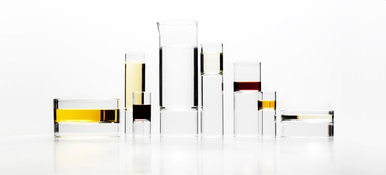EU Clients 8 Contemporary Minimal Clear Champagne Flute Glasses Czech in Stock For Sale 1