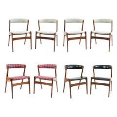 '8' Danish Midcentury Dining Chairs by Kai Kristiansen