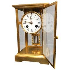 19th Century 8 Day French Four Glass Mercury Pendulum Clock