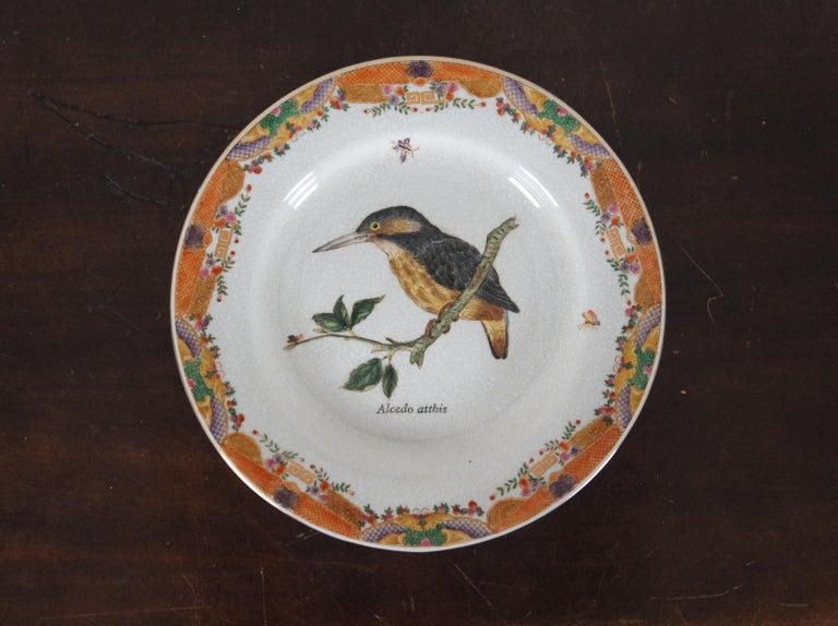 8 Decorative Antiqued Porcelain Bird Plates Wong Lee Ornithology For Sale 1
