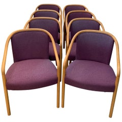 8 Dining Chairs by Brickel Associates for Arthur Elrod in Plum