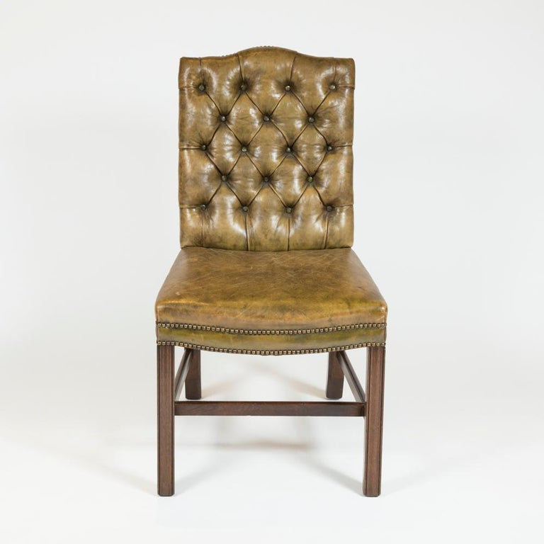 8 Dining Chairs with Leather Button Backs, 2 Carvers and 6 Standard Chairs 10