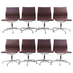 '8' Eames Aluminum Group Chairs