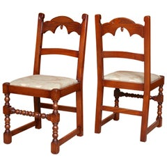 8 English Oak Dining Chairs Bevan Funnell Carved Country Oak