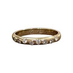 8 Flush Set Bezel Diamond Eternity Wedding Band in 14 Karat Yellow Gold