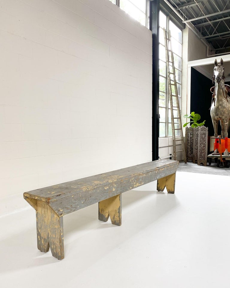 Vintage Farmhouse Bench In Good Condition In SAINT LOUIS, MO