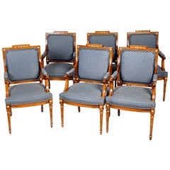 8 French 19th Century Louis XVI Style Cherry Dining Chairs