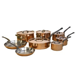 8 French E. Dehillerin Cuprinox Extra Thick Copper Cookware