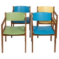 8 Harvey Probber Mid-Century Modern Colorful Dining Chairs