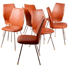 8 Horgen Glarus Faux Leather Chairs