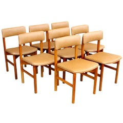 '8' Jens Risom Style Dining Side Chairs