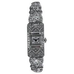 8 Carat Platinum Wristwatch