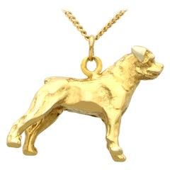 8 Karat Yellow Gold Dog Charm/Pendant Vintage Circa 1960