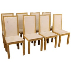 8 Lacquered and Painted Italian Chairs, 20th Century