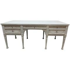 8 Leg Gustavian Style Carved Desk