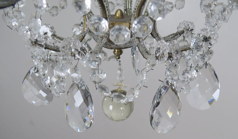 8-Light Italian Crystal Beaded Chandelier For Sale 2