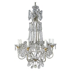 8-Light Italian Crystal Beaded Chandelier