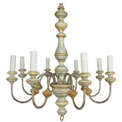 8-Light Italian Painted Chandelier