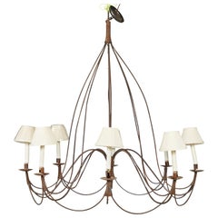 8 Light Rustic French Chandelier