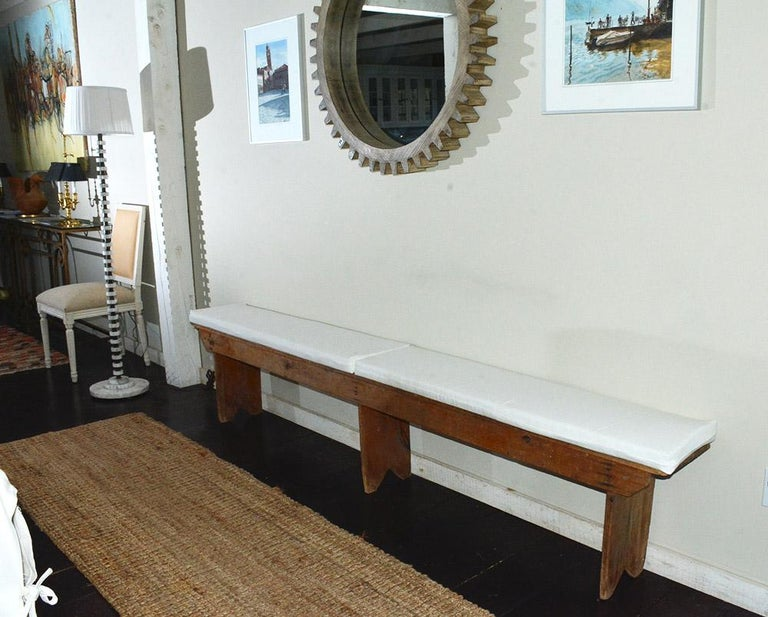 Rustic American Country Bench For Sale 4
