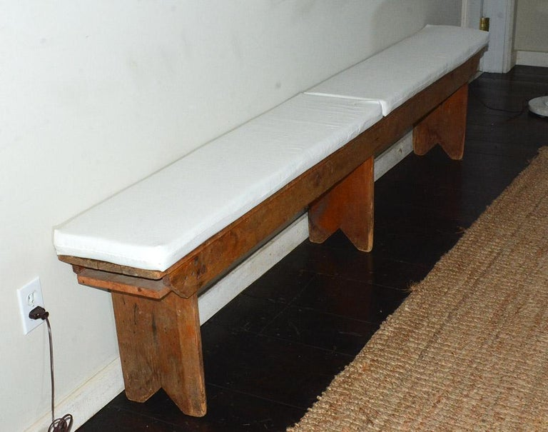 Hand-Crafted Rustic American Country Bench For Sale