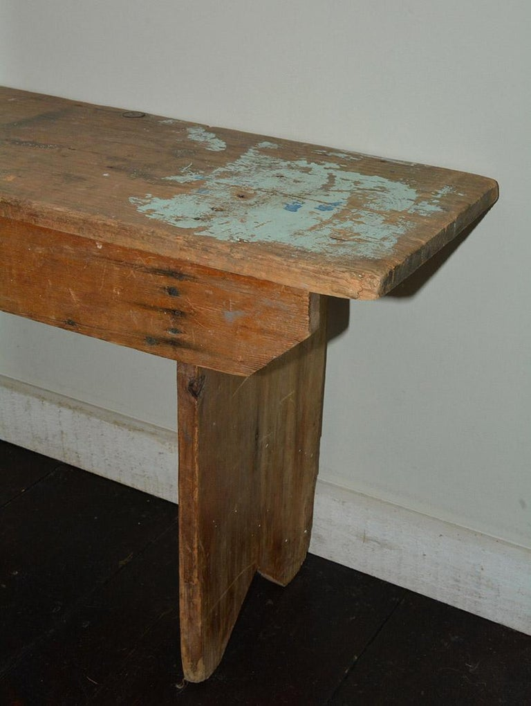 19th Century Rustic American Country Bench For Sale