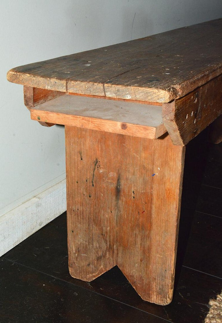 Rustic American Country Bench For Sale 3