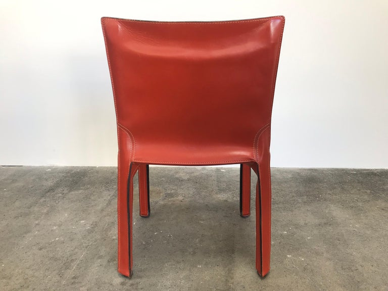 8 Mario Bellini CAB 412 Chairs in Russian Red Leather for Cassina In Good Condition For Sale In Grand Cayman, KY