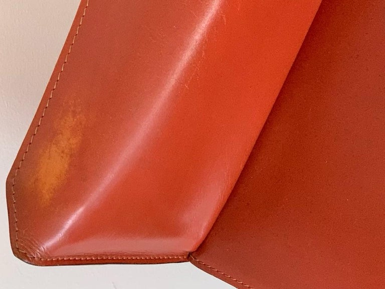 8 Mario Bellini CAB 413 Armchairs in Russian Red 'Cognac' Leather for Cassina 1