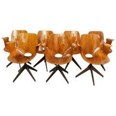8 Medea Desk Chair with Swivel Base by Vittorio Nobili for Fratelli Tagliabue